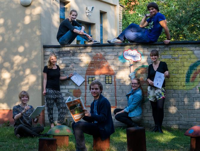 Die Redaktion des politikorange-Blogs zum 6. Jugendforum Stadtentwicklun. Foto: Dustin Sattler