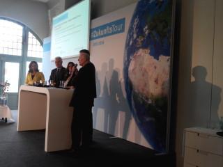Die Redner*innen in der Diskussion zum Thema Nachhaltigkeit