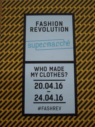 Der Flyer zum Fashion Revolution-Programm von Supermarché, Foto: Corinna v. Bodisco