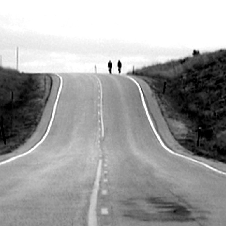 Straße Richtung Horizont