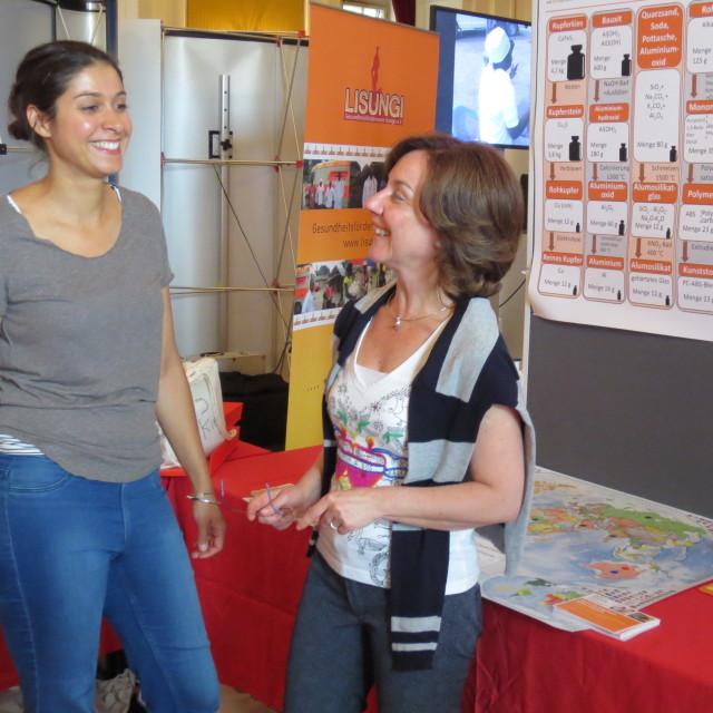Jaya Bowry und Maurizia Magro bei der Zukunftstour Mainz / Foto: Nathalie Bockelt
