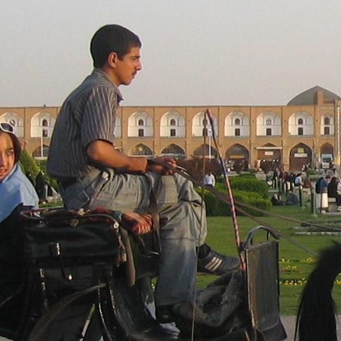 "Kutschfahrt in Isfahan in Iran: ""Maral Koohestanian"" / www.jugendfotos.de"