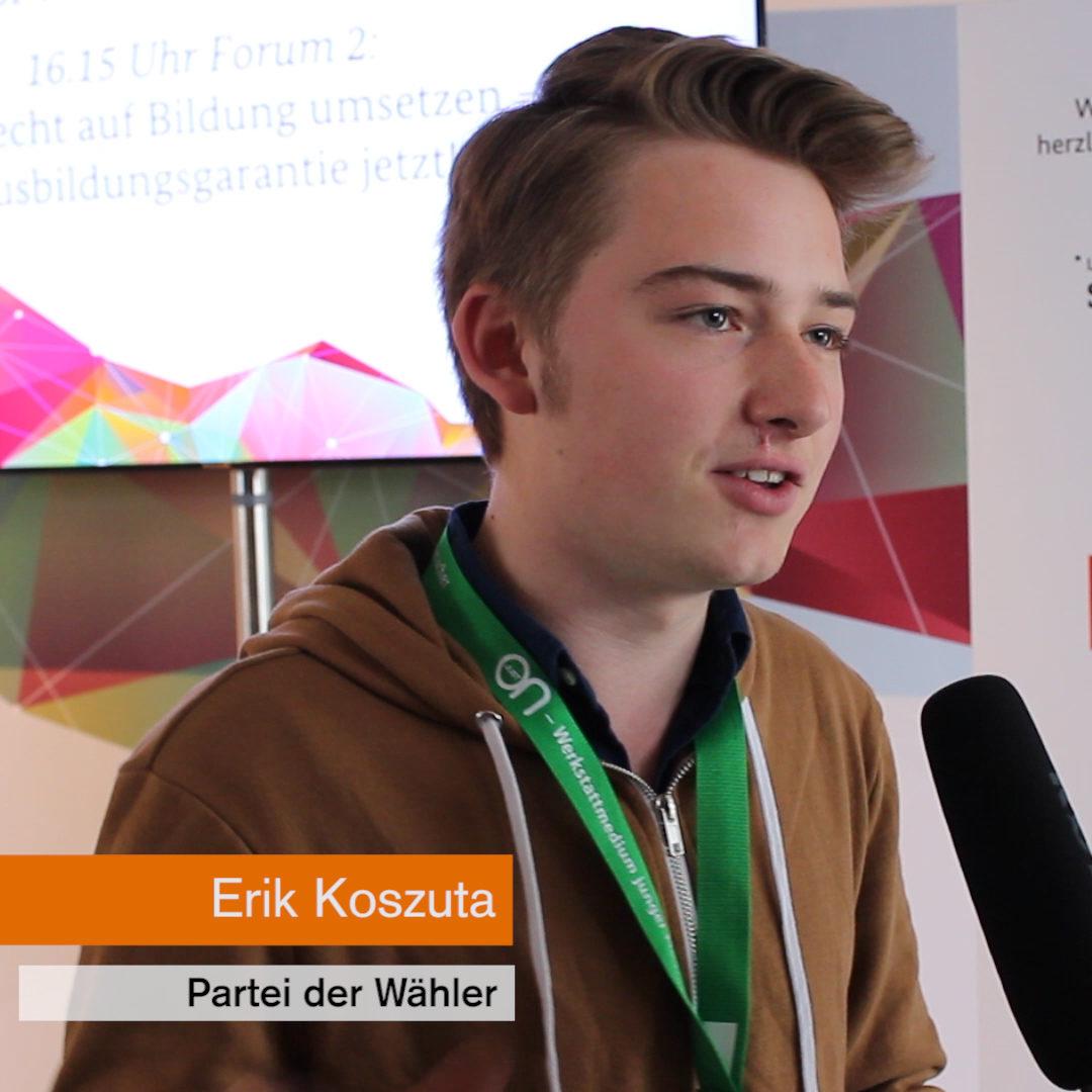 Erik Koszuta von der Partei der Wähler.