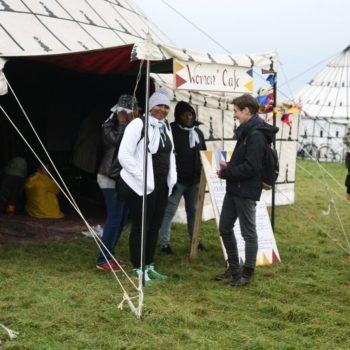 Das Frauenzelt beim Welcome Festival