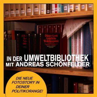 In der Umweltbibliothek mit Andreas Schönfelder. Die neue Fotostory in Deiner politikorange.