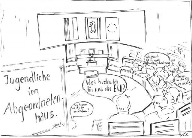 Zeichnung Leah Abgeordnetenhaus