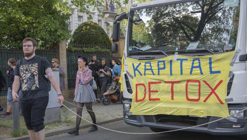 Demo durch Grunewald / Foto: Walaa Ismail