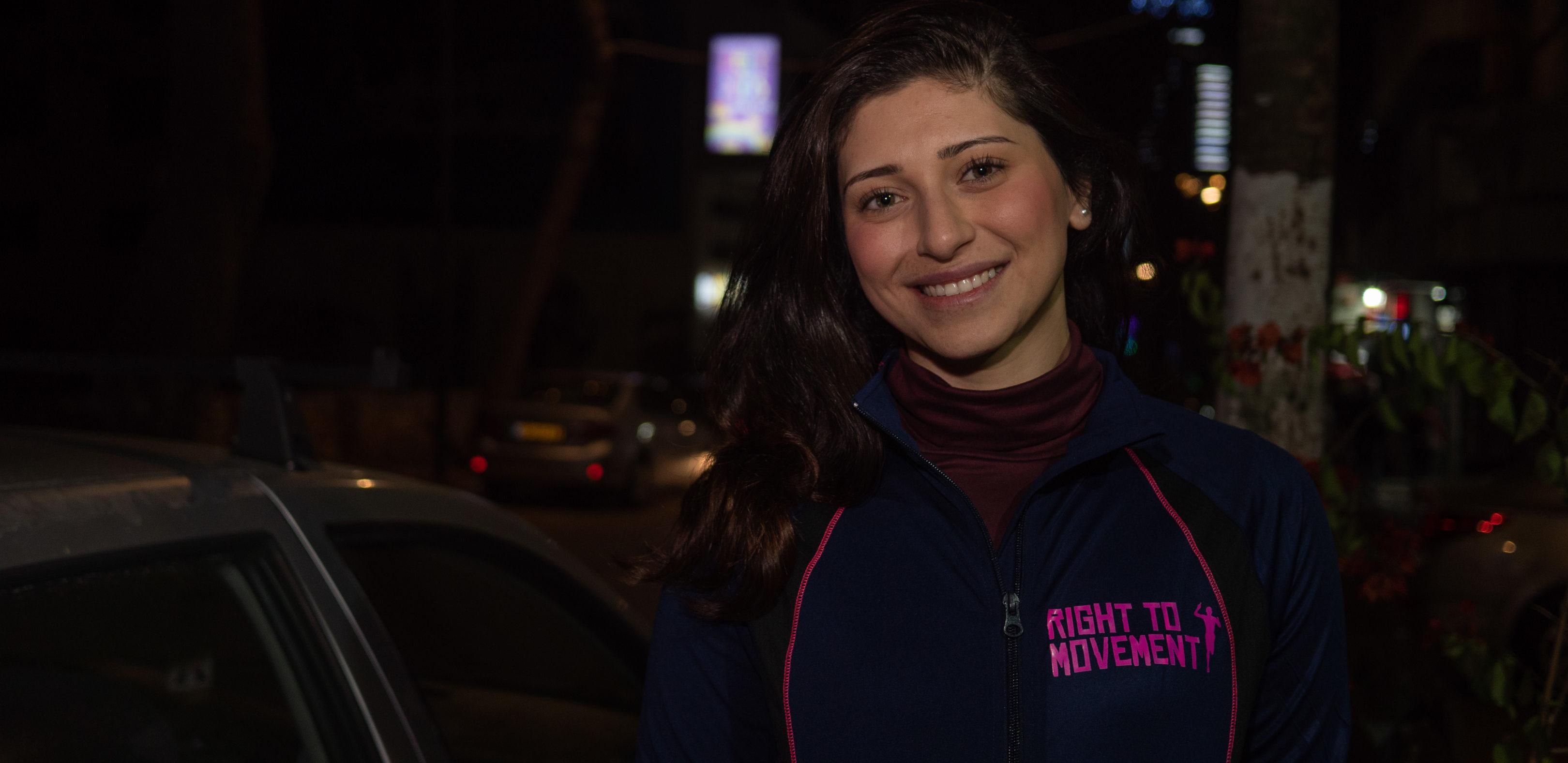 Yara Ra'fat Al Qadi from Right to Movement / Photo: Mathias Birsens