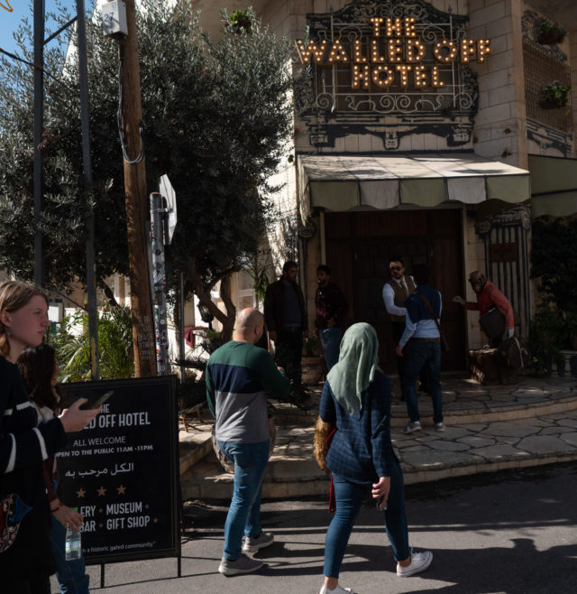 "Since ""The Walled Off Hotel"" opened in 2017, it became one of the most visited sights in Palestine. Located between the ""Rachel's Crossing"" checkpoint to Jerusalem and the centre of Bethlehem, the project by the British street artist Banksy brings tourists from all over the world to one of the Israeli-Palestinian conflict hotspots."